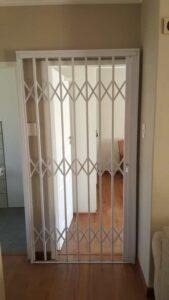 framed security door bedroom