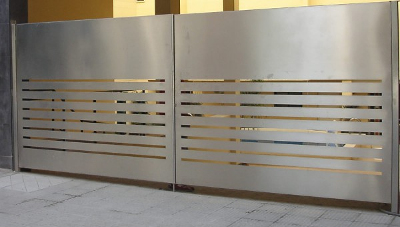 stainless steel style custom gate