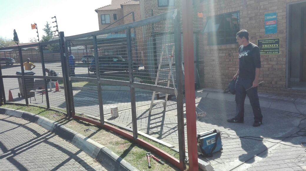 fencing installation at complex-2
