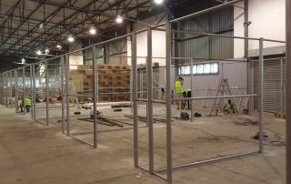warehouse cage installation-4