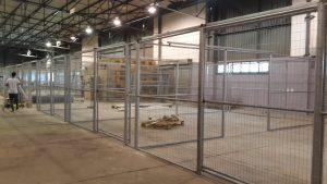 warehouse cage installation-4