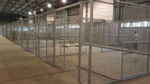 warehouse security cages installation
